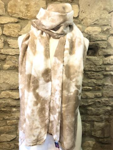 NEW washed out cream scarf