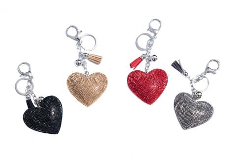 Grey heart keyring